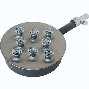 Queimador em Inox com 8 Caulins de Alta Pressão Sem Registro