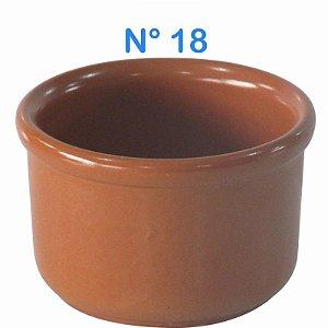 Cumbuca Refratária N° 18 de Cerâmica Estilo Barro
