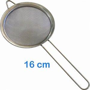 Peneira em Inox 16 cm para Sucos