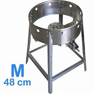 Fogão Pasteleiro em Inox Medio 48cm Alta Pressão