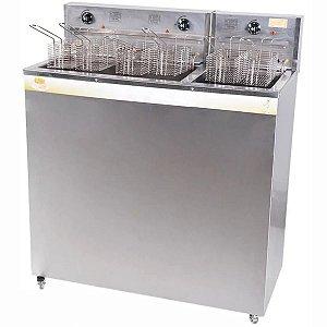 Fritadeira Elétrica Profissional 2 Cubas 12000W 54 Litros Água e Óleo FAOI 36/18