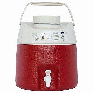 Garrafão Botijão Térmico para Água 8 Litros com Torneira  azul ou vermelho