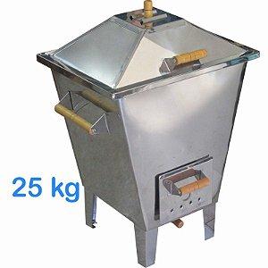 Churrasqueira Forno e Defumador a Bafo em Inox 25Kg com Grelha e Acessórios