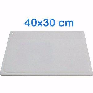Tabua de Corte 40 x 30cm em Polietileno Branco