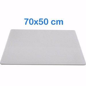 Tabua de Corte 70 x 50cm em Polietileno Branco