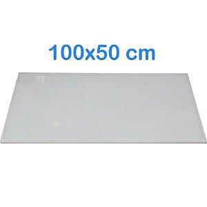 Tabua de Corte 100 x 50cm em Polietileno Branco