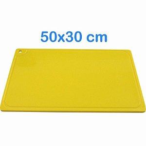 Tabua de Corte 50 x 30cm em Polietileno Amarelo
