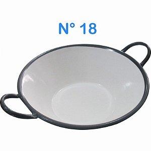 Tacho Esmaltado N°18 Para Frituras 10 Litros