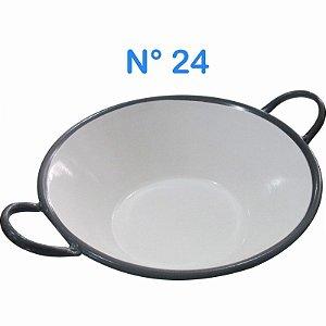 Tacho Esmaltado N°24 Para Frituras 23 Litros