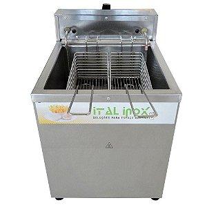 Fritadeira Elétrica Profissional 1 Cuba Água E Óleo 18 Litros 5000 Watts