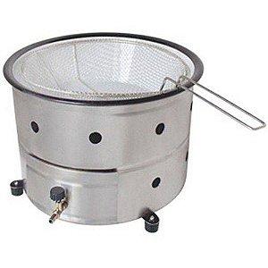 Fritadeira Tacho 5 litros e Cesto a Gás Modelo de Mesa