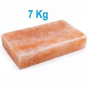 Chapa De Pedra De Sal Rosa Do Himalaia 7 Kg 30 X 20 X 5,5 Cm
