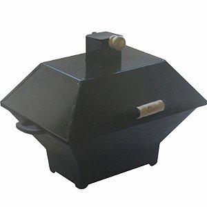 Churrasqueira A Bafo De Ferro Fundido Com Grelha 37 X 27 Cm