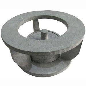 Rechaud Fogareiro Em Pedra Sabão 20cm Para Chapa Picanheira Panela Caçarola