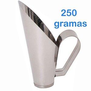 Concha 250 Gramas Para frutas Conservas Ração Milho Cereais Feijão Grão de bico em Inox