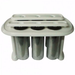 Forma Picoleteira para 6 Picolés Em Alumínio 90ml