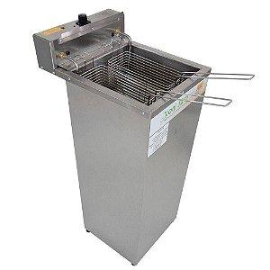 Fritadeira Elétrica profissional  Batata Salgados 1 Cuba 18 Litros Água e Óleo 5000W - Gabinete INMETRO