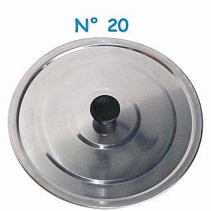 Tampa Avulsa N° 20 de Alumínio com Pomel