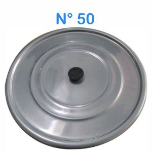 Tampa Avulsa N° 50 de Alumínio com Pomel