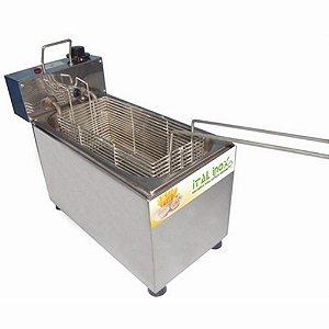 Fritadeira Elétrica Profissional 2 Lts 1 Cuba Térmica Com Cesto