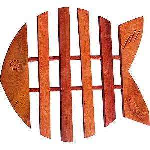 Descanso de Panelas Protetor temperatura para mesas em Madeira Modelo peixe