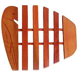 Descanso de Panelas Protetor temperatura para mesas em Madeira Modelo arara