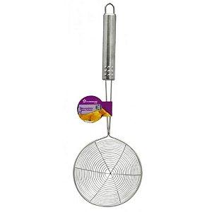 Escumadeira para Fritura Salgados Bolinhos em Inox Cook
