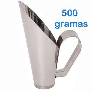 Concha 500 Gramas Para frutas Conservas Ração Milho Cereais Feijão Grão de bico em Inox