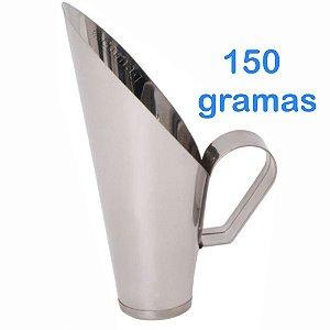 Concha 150 Gramas Para frutas Conservas Ração Milho Cereais Feijão Grão de bico em Inox
