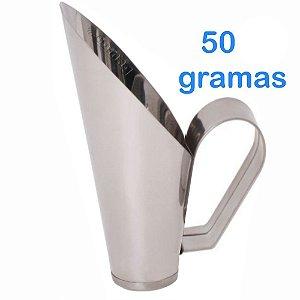 Concha 50 Gramas Para frutas Conservas Ração Milho Cereais Feijão Grão de bico em Inox