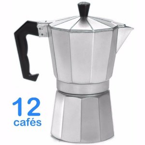Cafeteira Italiana Em Alumínio Para 12 Cafés Ou 600ml