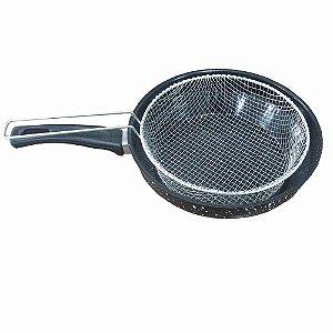 Frigideira Fritura Esmaltada 26 Cm Com Cesto Batatas Torresmo