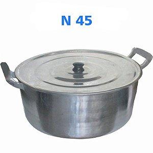 Panela Caçarola de Alumínio Fundido Alumínio Batido N° 45