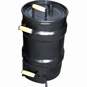 Churrasqueira Bafo Defumador Grill Forno Tambor Com duas Grelhas Gaveta Para Carvão