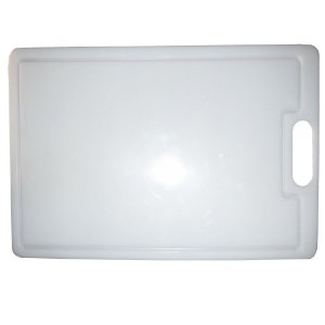 Tabua Placa De Corte 49,5 X 29,5cm Em Polietileno Branco