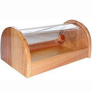 Cesto Porta Pão de Madeira com Portas de Acrílico