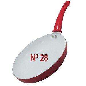 Frigideira N° 28 Vermelha Com Revestimento Cerâmico Anti-adr
