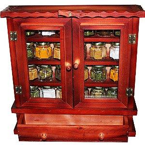 Armarinho Organizador De Temperos Condimentos Com 24 Potes Pequenos