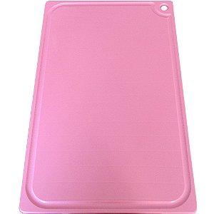 Tabua de Corte 40 x 25cm em Polietileno Rosa