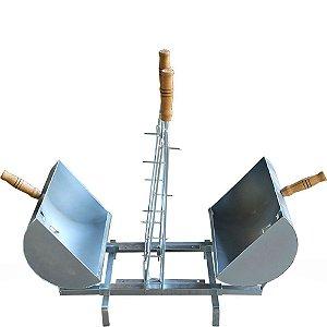 Churrasqueira Gaucha Mini Fogo de Chão de Tambor com 1 Espeto
