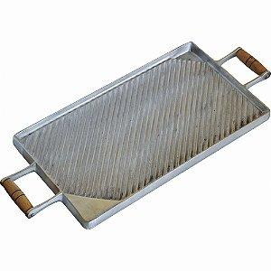 Chapa Bifeteira Dupla Face Em Alumínio Fundido Para Fogão