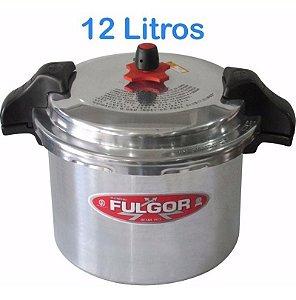 Panela De Pressão Industrial 12 Litros Alumínio C/ Trava