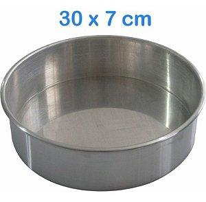 Forma De Bolo Em Alumínio 30x7cm Redonda
