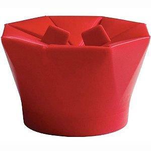 Pipoqueira de Microondas em Silicone Vermelha