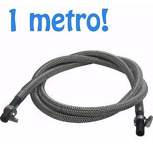 Mangueira de Gás Trançada em Malha de Aço 1 Metro