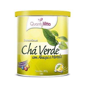 Chá Verde com Abacaxi e Hortelã - Solúvel sabor Abacaxi com Hortelã - 200g - QuantyVitta
