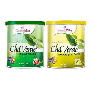Promoção Combo Chá Verde Solúvel - 2 potes - 1 pote de cada sabor