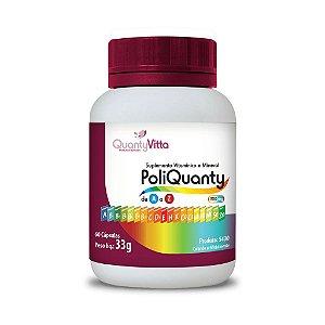 PoliQuanty - Suplemento Vitamínico e Mineral de A a Z em cápsulas - 60 cápsulas - 33g - QuantyVitta