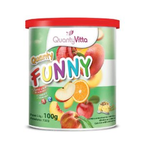 Quanty Funny - Solúvel sabor Abacaxi - 100g - QuantyVitta