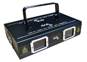 Laser awa duo 650mw azul / vermelho dmx